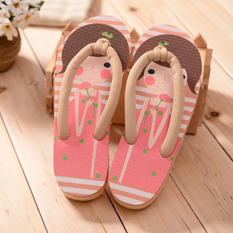 韩版俏皮可爱娃娃人字拖鞋