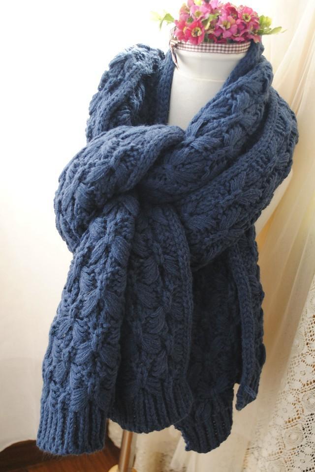 围巾反正针起头织法图解