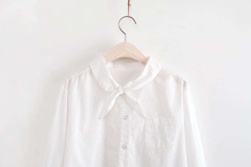 小清新领结白衬衫