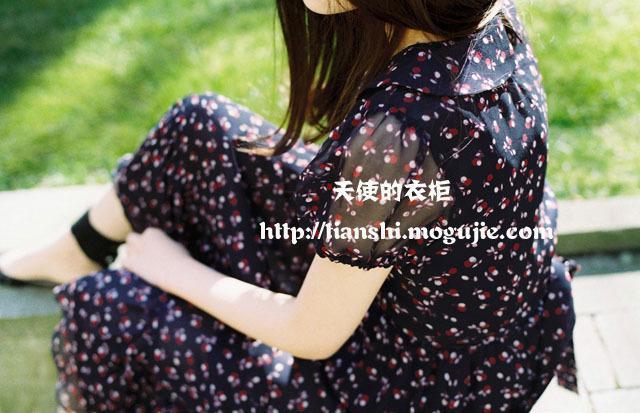 2015春装新款小樱桃长连衣裙