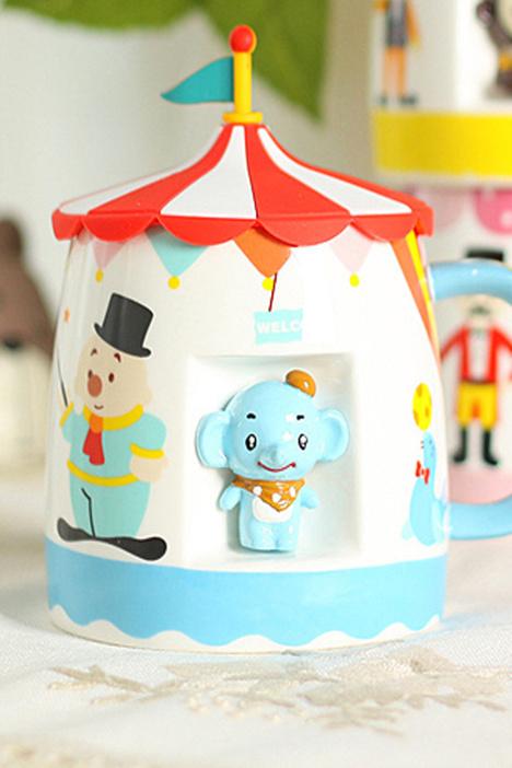 马克杯,动物杯,带盖杯子,陶瓷杯,创意杯子