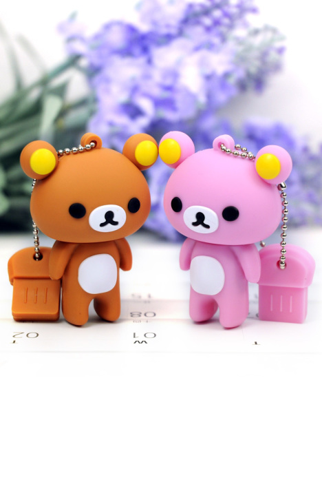 情侣轻松熊,8gb卡通u盘