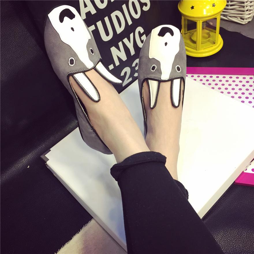【gogo】甜美可爱卡通头像单鞋