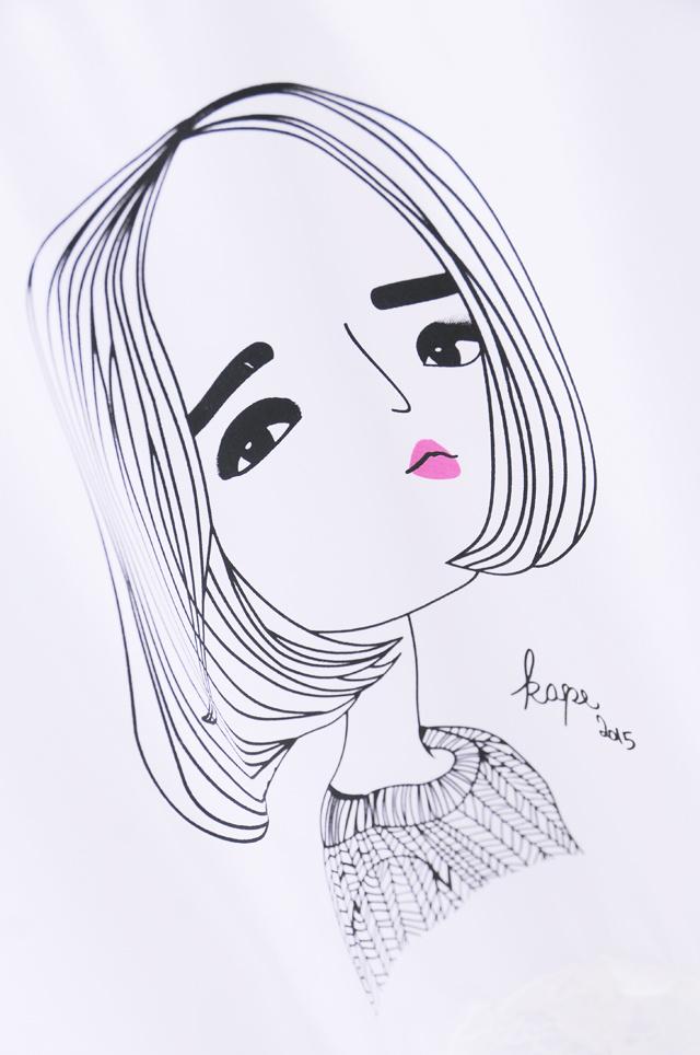 手绘韩范壁纸图片