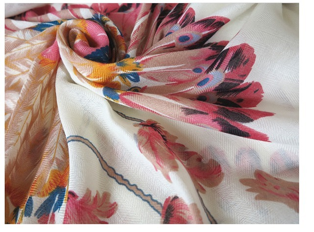 大长方形围巾的各种围法图解