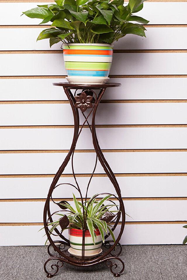 欧式铁艺花架子落地多层室内室外阳台客厅吊兰绿萝