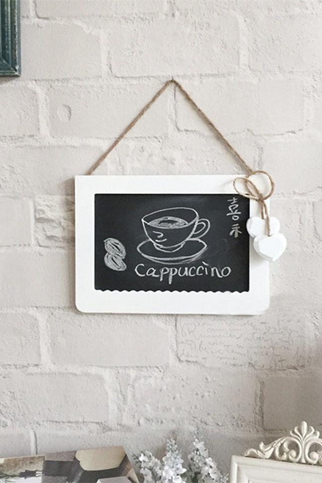 韩版麻绳装饰挂式小黑板写字板