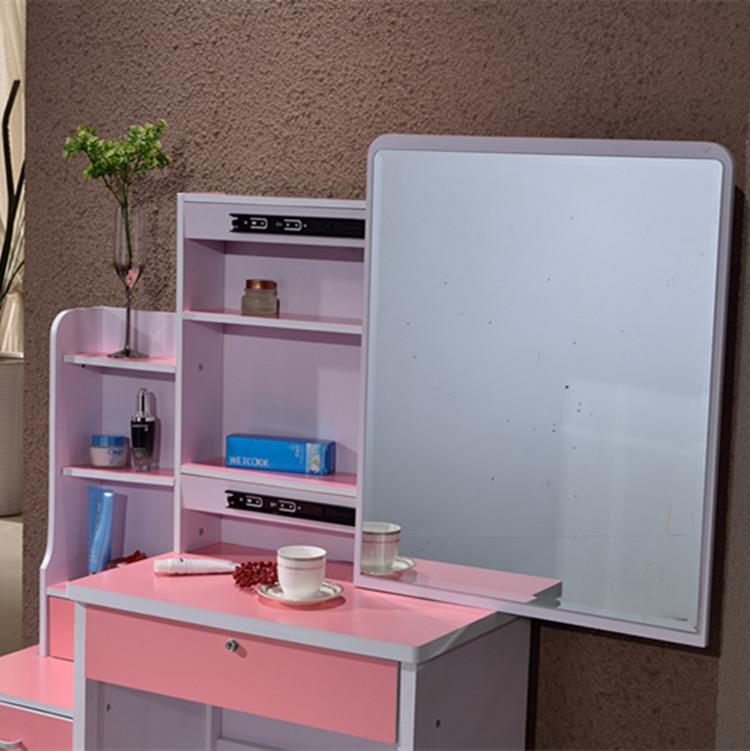 板式梳妆台现代小户型卧室梳妆台简约带抽梳妆台经济化妆桌推拉镜
