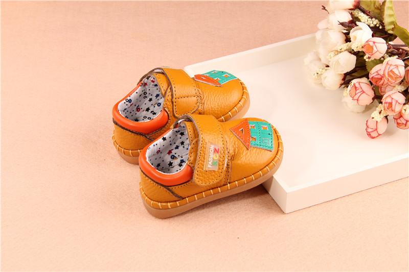 2015秋季新款儿童鞋子婴幼儿男童卡通小房子真皮学步鞋宝宝鞋