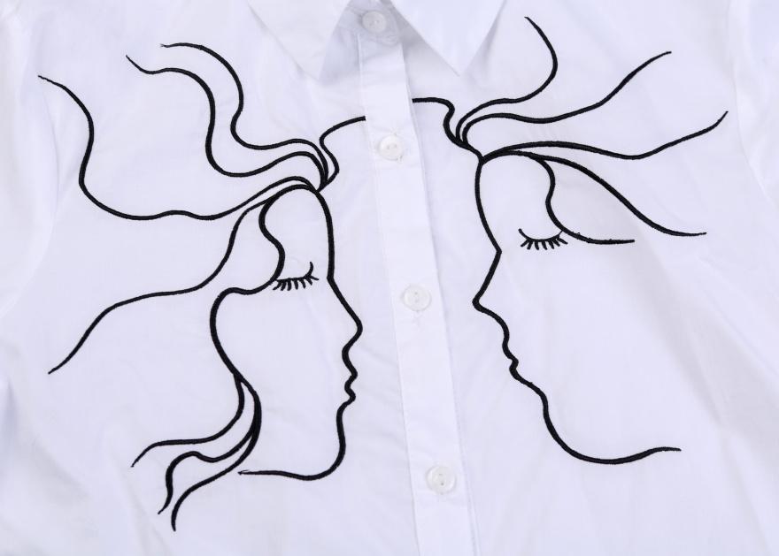 衬衣手绘效果图