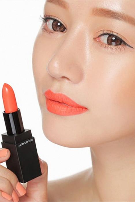 橙色唇膏_权秀晶 糖果橘色 亮橘色 橙色口红唇膏 滋润好上色