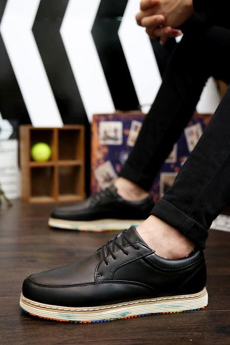 男英伦皮鞋搭配