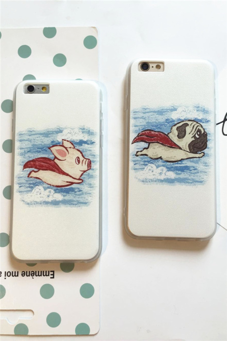 【可爱奔跑小猪iphone6s