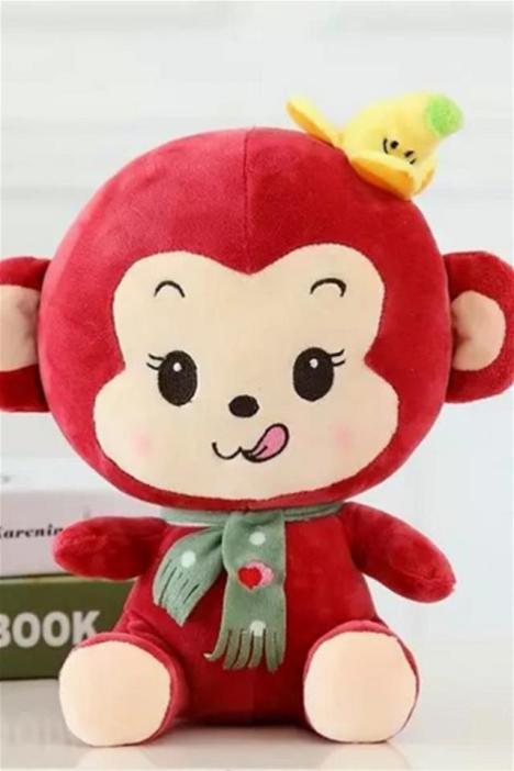 【萌萌哒-可爱香蕉猴子大嘴猴公仔娃娃】-母婴-玩具