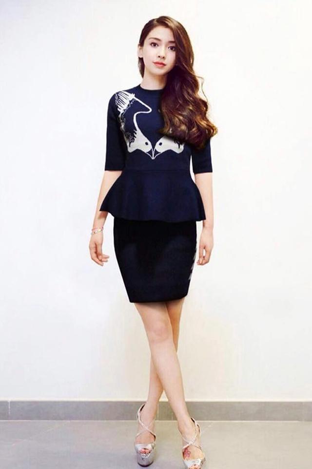 杨颖裙子图片大全可爱