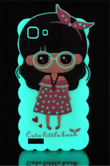 夜光卡通边框软手机套