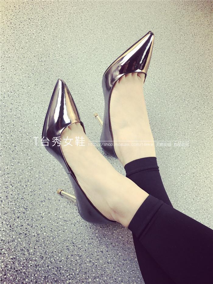 【欧美时尚大牌细跟尖头高跟鞋】-鞋子-单鞋