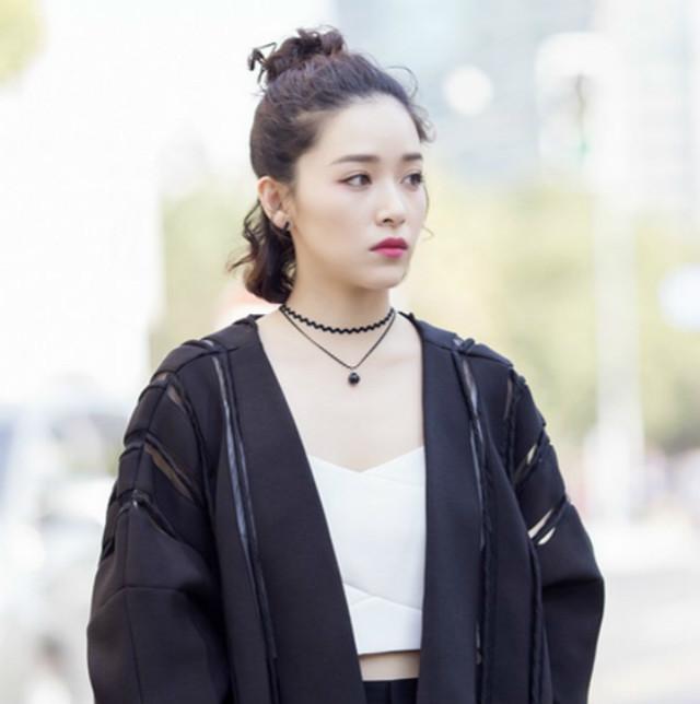 【韩版阚清子明星街拍同款性感水波浪纹双层圆珠项链
