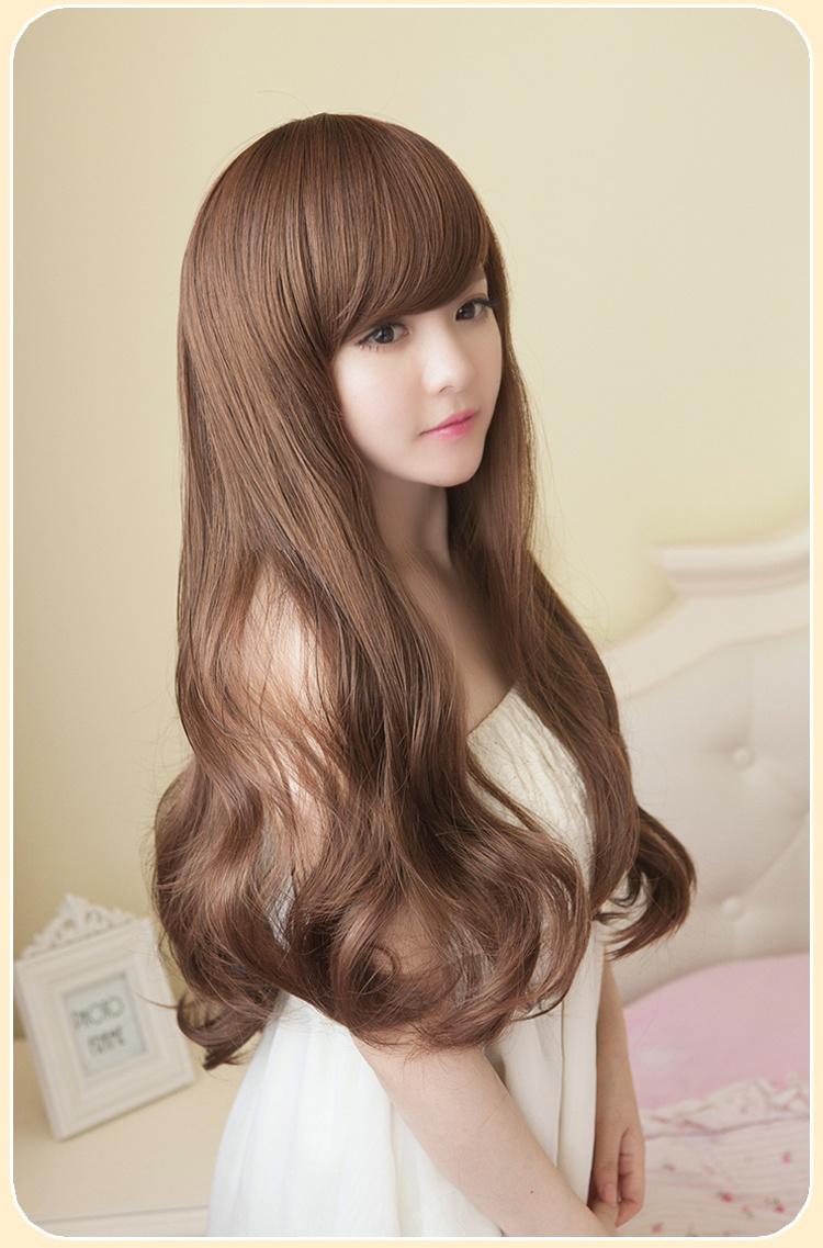 韩国中长卷发发型图片展示图片