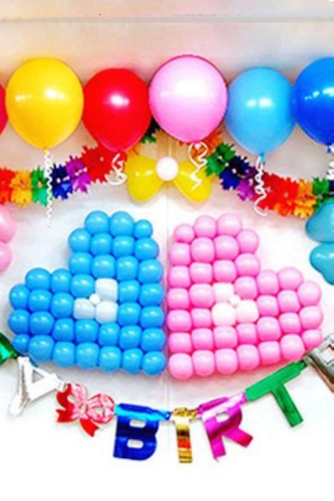 5寸加厚圆形小气球 可爱心网络造型
