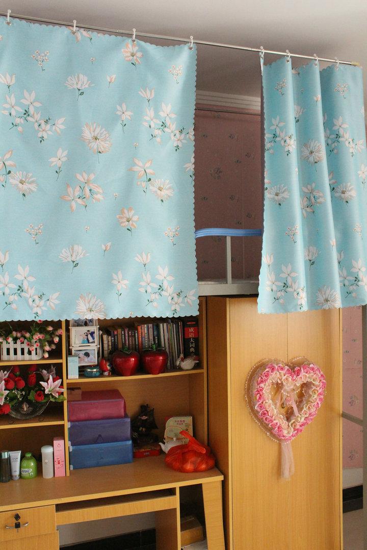 大学生宿舍物理遮光床帘寝室上下铺樱落帘子图片