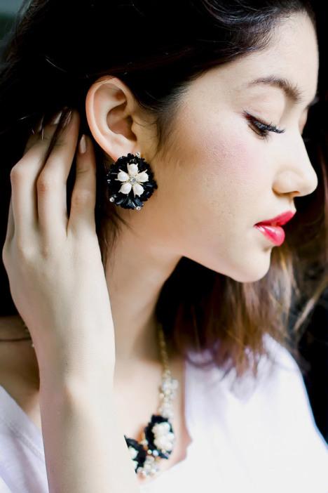 洛奈耳环 女欧美时尚潮流街拍复古气质夸张大耳饰耳环 普西芬妮