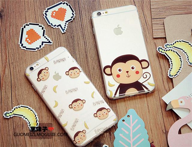 【可爱猴子香蕉苹果手机壳】-配饰-3c数码配件