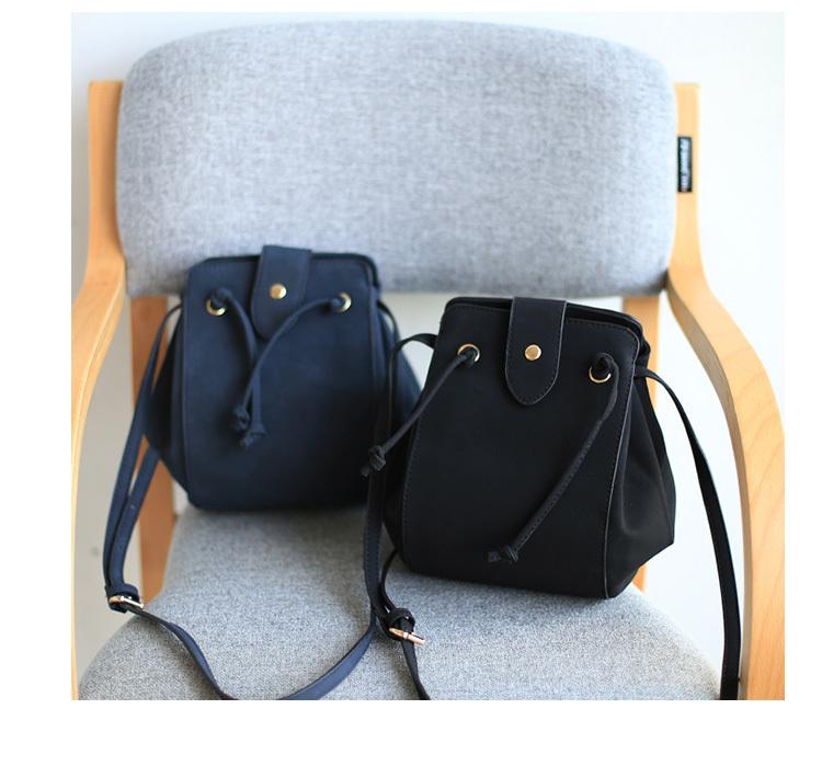 【抽带复古水桶包】-包包-女包