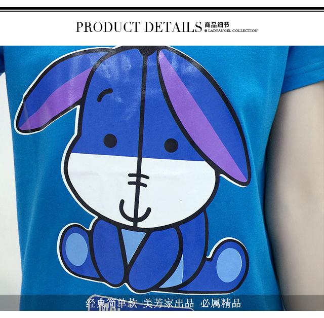 【可爱小驴动物卡通打底短袖t恤】-衣服-服饰鞋包