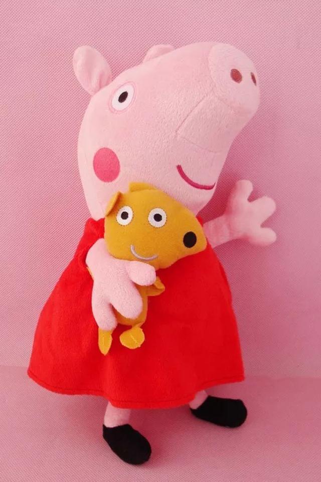 【正版佩奇猪乔治粉红猪小妹毛绒公仔】-母婴-母婴类