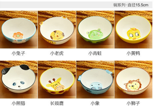 【创意手绘陶瓷米饭碗盘勺】-null-百货