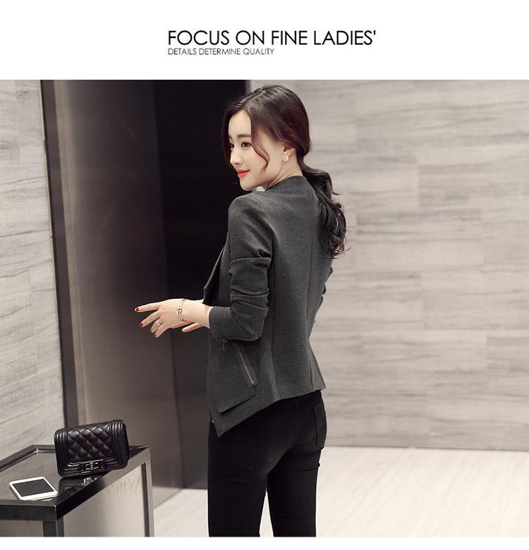 春装新品修身百搭短款女式小外套衣服 韩版时尚西装褂子潮春
