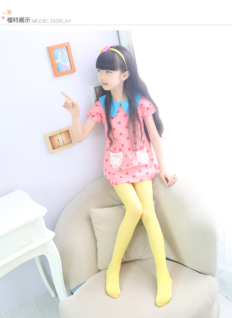 女童连裤袜夏儿童丝袜连裤袜子舞蹈袜白色踩脚打底袜
