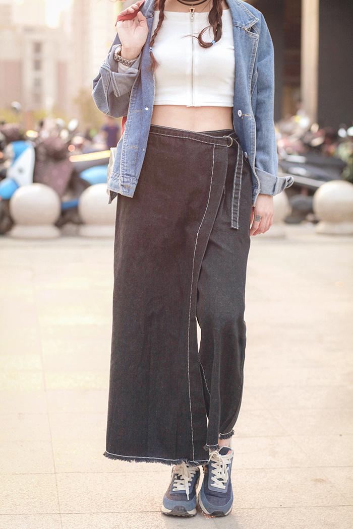 【韩版时尚设计感重叠牛仔裙裤】-衣服-裙裤_裤子__鞋
