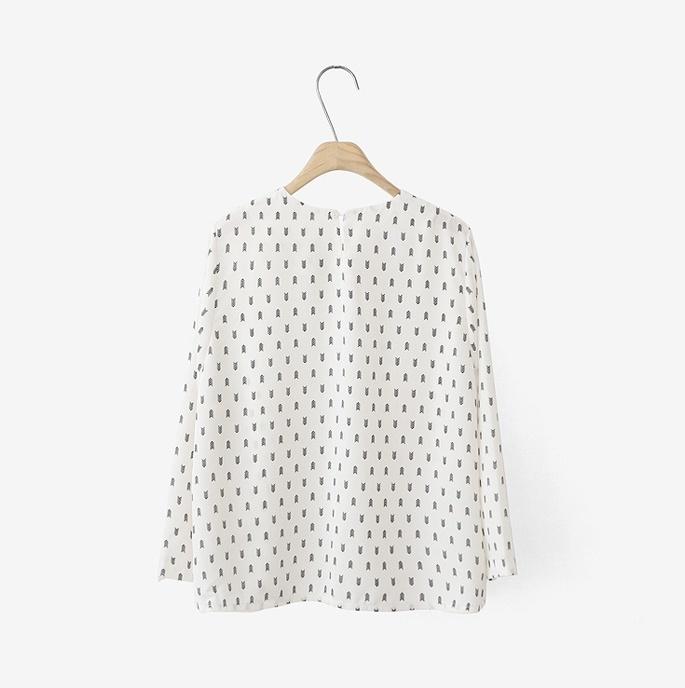 【cherrykoko-可爱箭头圆领百搭t恤】-衣服-t恤