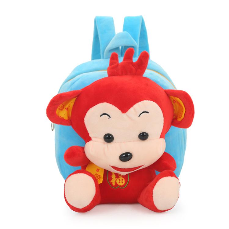 2016儿童本命年小猴子毛绒书包超萌可爱潮时尚小双肩包背包