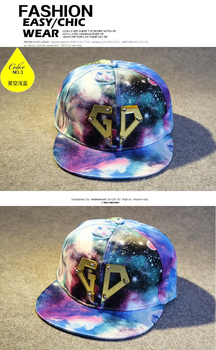 星空时尚gd同款帽子权志龙棒球帽