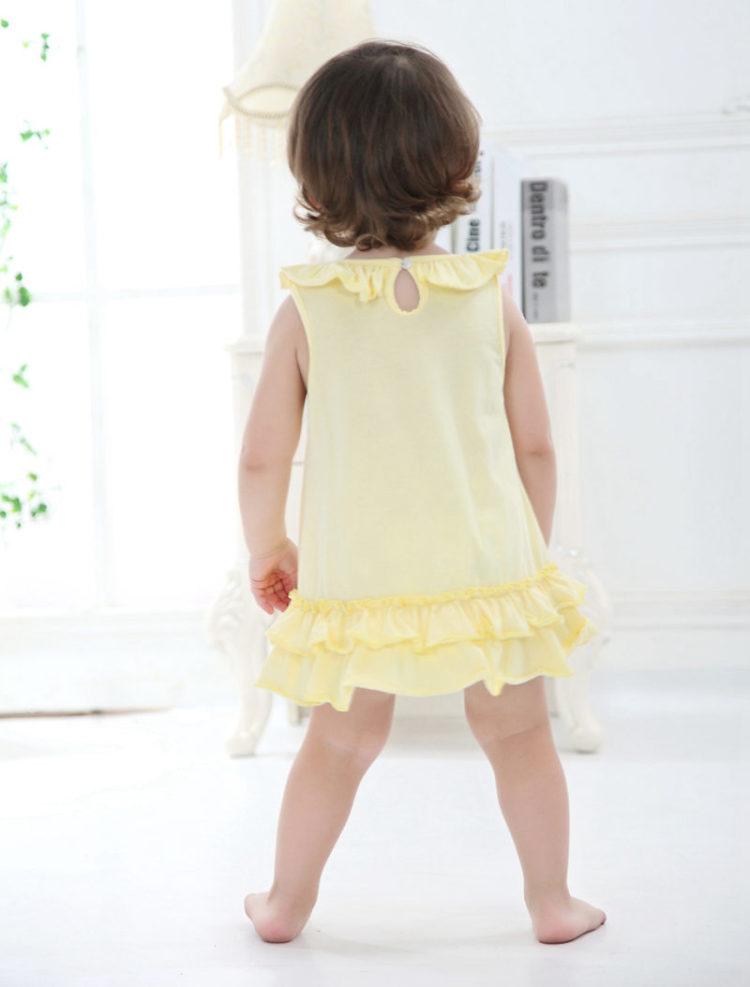 宝宝连衣裙婴幼儿服装夏季童装女荷叶边蛋糕背心裙