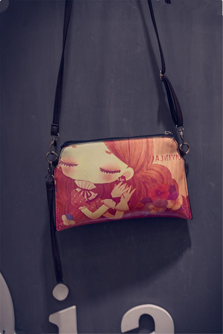 【韩版原创彩绘手绘涂鸦迷你印花斜挎包】-包包-女包