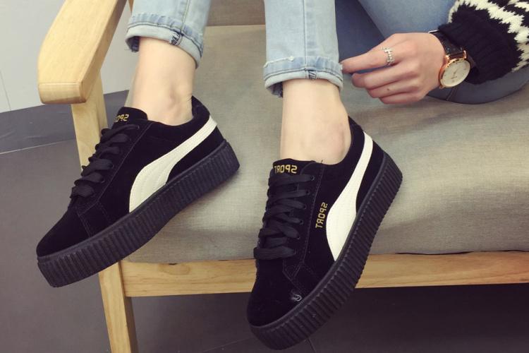 蕾哈娜联名同款 欧美范街拍百搭复古休闲运动鞋图片