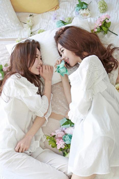 夏季新款韩版纯棉纯色系闰蜜公主装