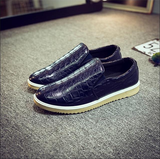 (伦太郎先生)夏季韩版蛇皮纹男士懒人鞋休闲鞋乐福鞋男鞋