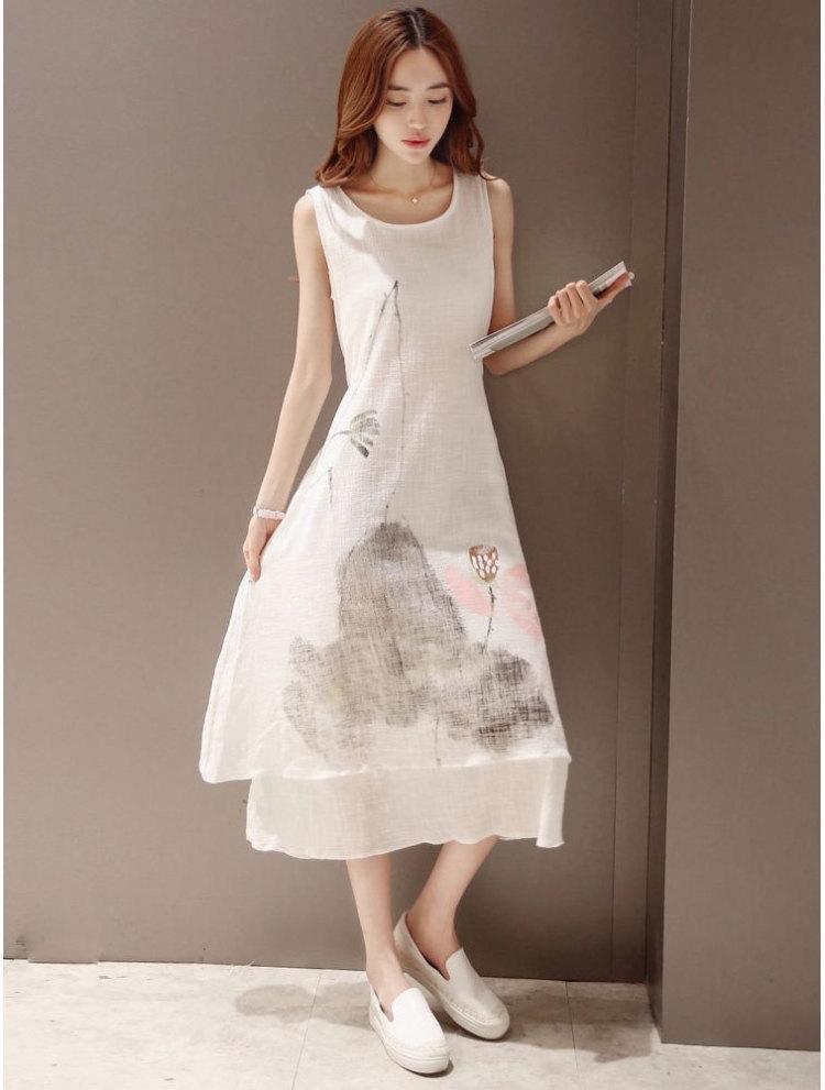 a 型裙的手绘款式图