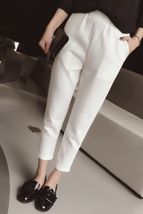 裤子,休闲裤,蕾丝花纹