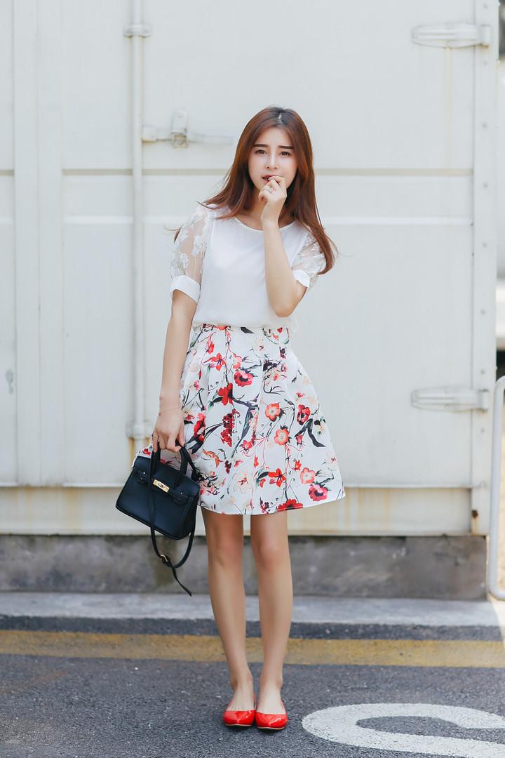 【夏季新款时尚气质淑女碎花衣裙套装】-衣服-服饰鞋